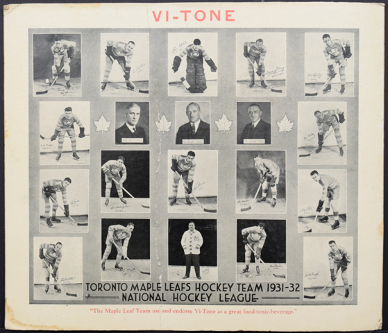 Toronto Maple Leafs Hockey Team 1931