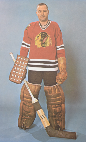 Glenn Hall Chicago Black Hawks 1965