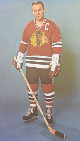Pierre Pilote Chicago Black Hawks 1965