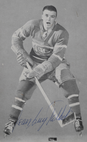 Jean Guy Talbot Montreal Canadiens 1957 Autographed Photo