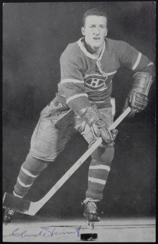 Claude Provost Montreal Canadiens 1957 Autographed Photo