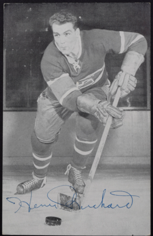 Henri Richard Montreal Canadiens 1957 Autographed Photo