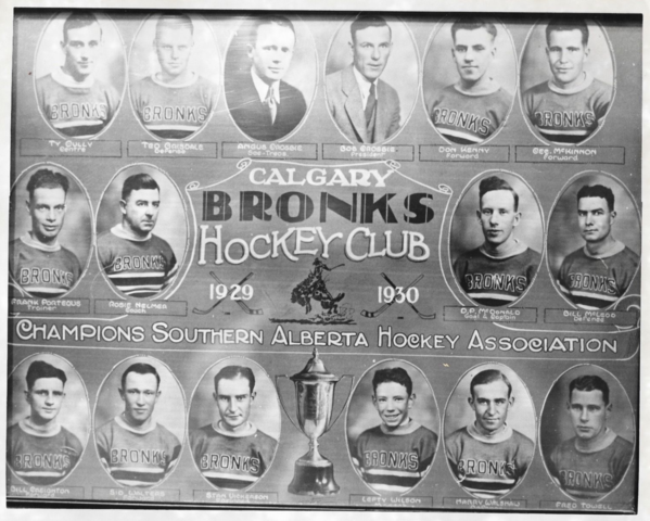 Calgary Bronks Southern Alberta Hockey League Champions 1930
