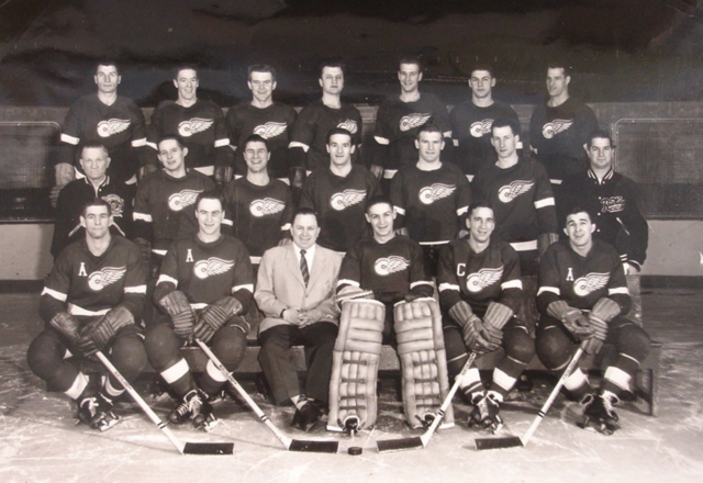 Detroit Red Wings Team Photo 1954-55