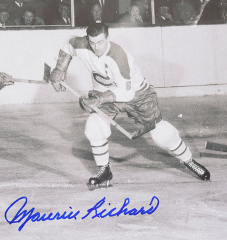 "Maurice ""Rocket"" Richard Montreal Canadiens Captain"
