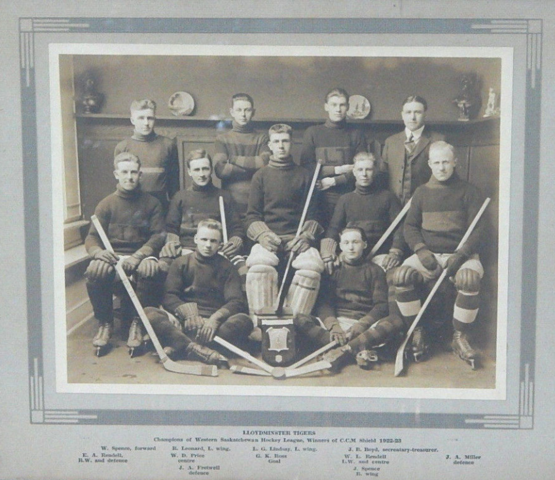 Lloydminster Tigers Western Saskatchewan Hockey League Champions 1923
