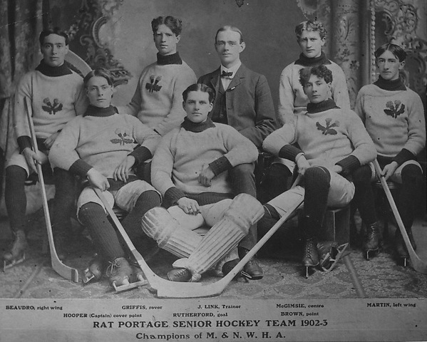 Rat Portage Thistles Team Photo 1903 Kenora Thisltes