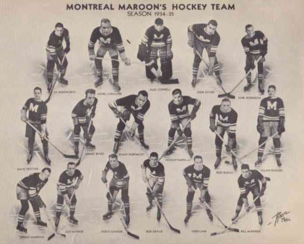 Montreal Maroons Team Photo 1934