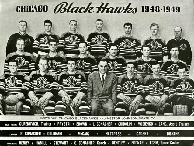 Chicago Black Hawks Team Photo 1948