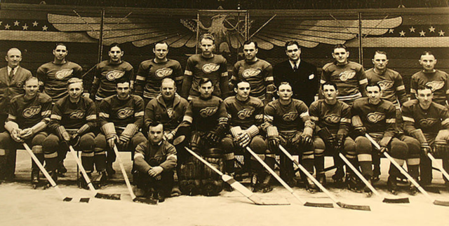 Detroit Red Wings Team Photo 1934