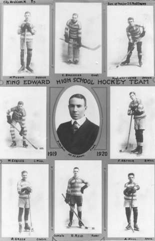 King Edward High School Hockey Team 1919 Vancouver, B.C.