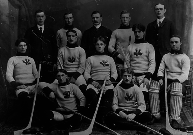 Rat Portage Thistles Team Photo 1904 Kenora Thistles