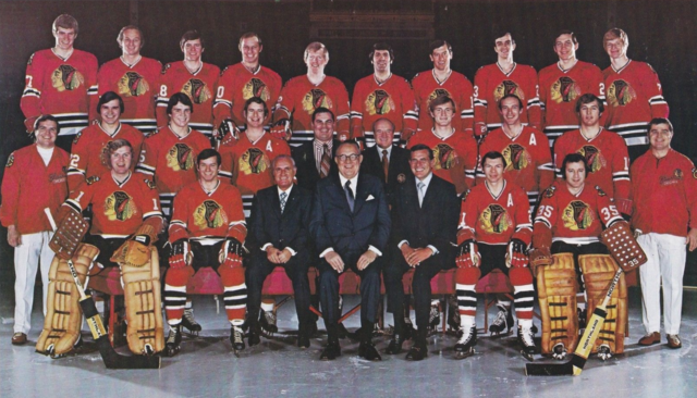Chicago BlackHawks Team Photo 1973