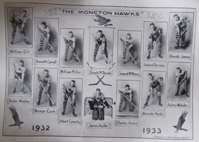 Moncton Hawks Team Photo 1932
