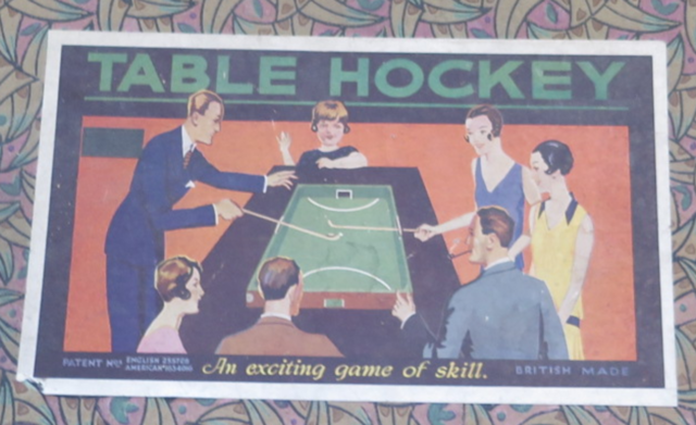 Table Hockey Illustration 1929 from a game made by G. J. Hayter and Co. England