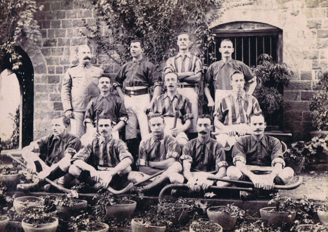 British Army Field Hockey Team in India - early 1900s