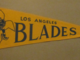 Los Angeles Blades Pennant 1960s Western Hockey League