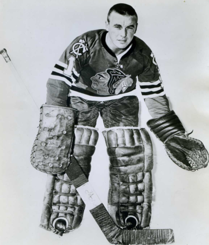 Denis DeJordy Chicago Black Hawks 1964