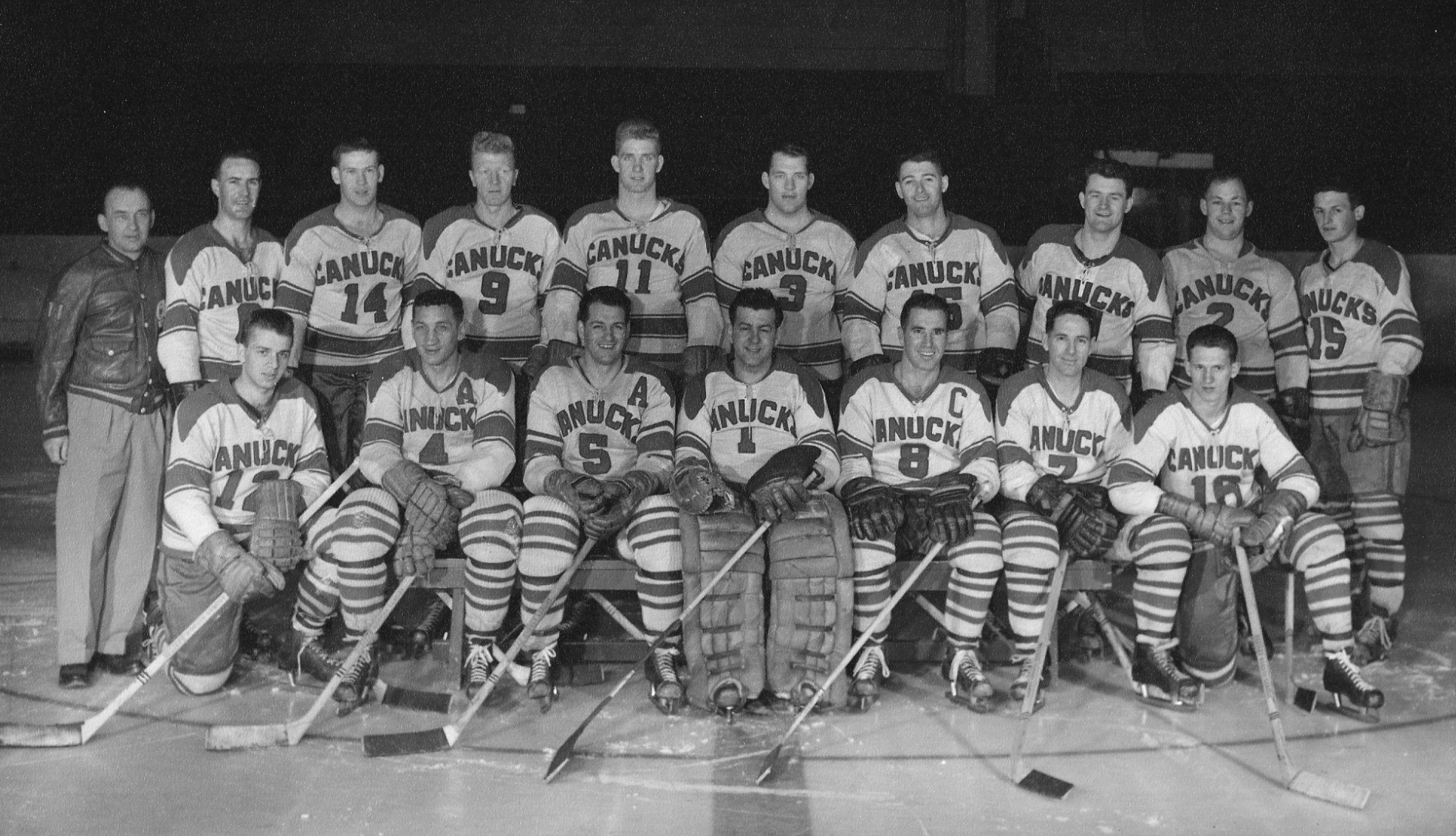 Vancouver Canucks Team Photo 1958 Western Hockey League Champions