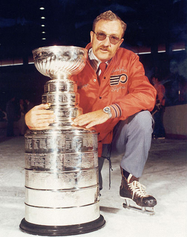 Fred Shero with the Stanley Cup - Philadelphia Flyers Coach 1974