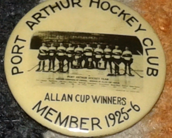 Port Arthur Hockey Club Member Pin-back Button 1925