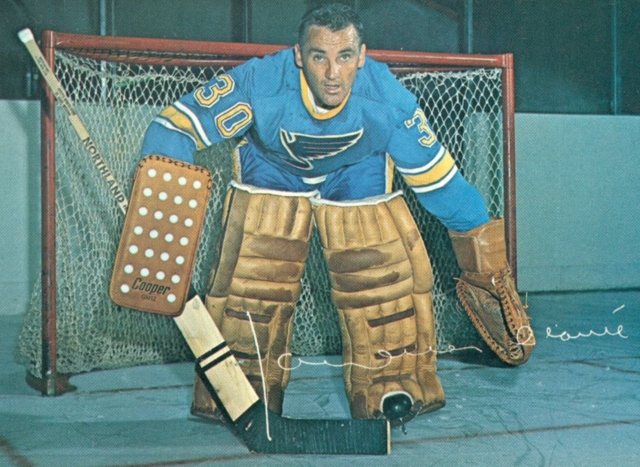 Jacques Plante St. Louis Blues Goalie 1969