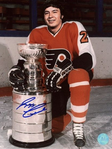 Reggie Leach with The Stanley Cup 1975