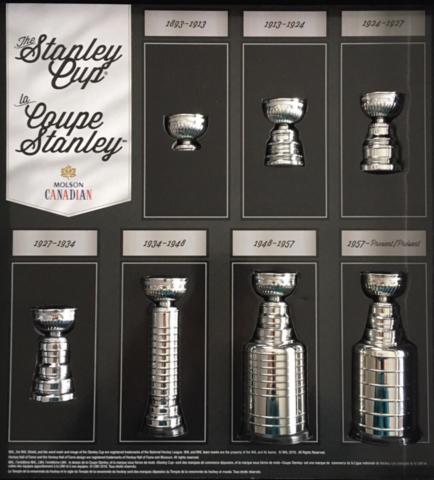Molson Canadian Stanley Cup 7 Piece Set in Official Case 2017