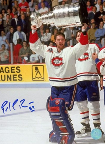 Patrick Roy with The Stanley Cup 1993