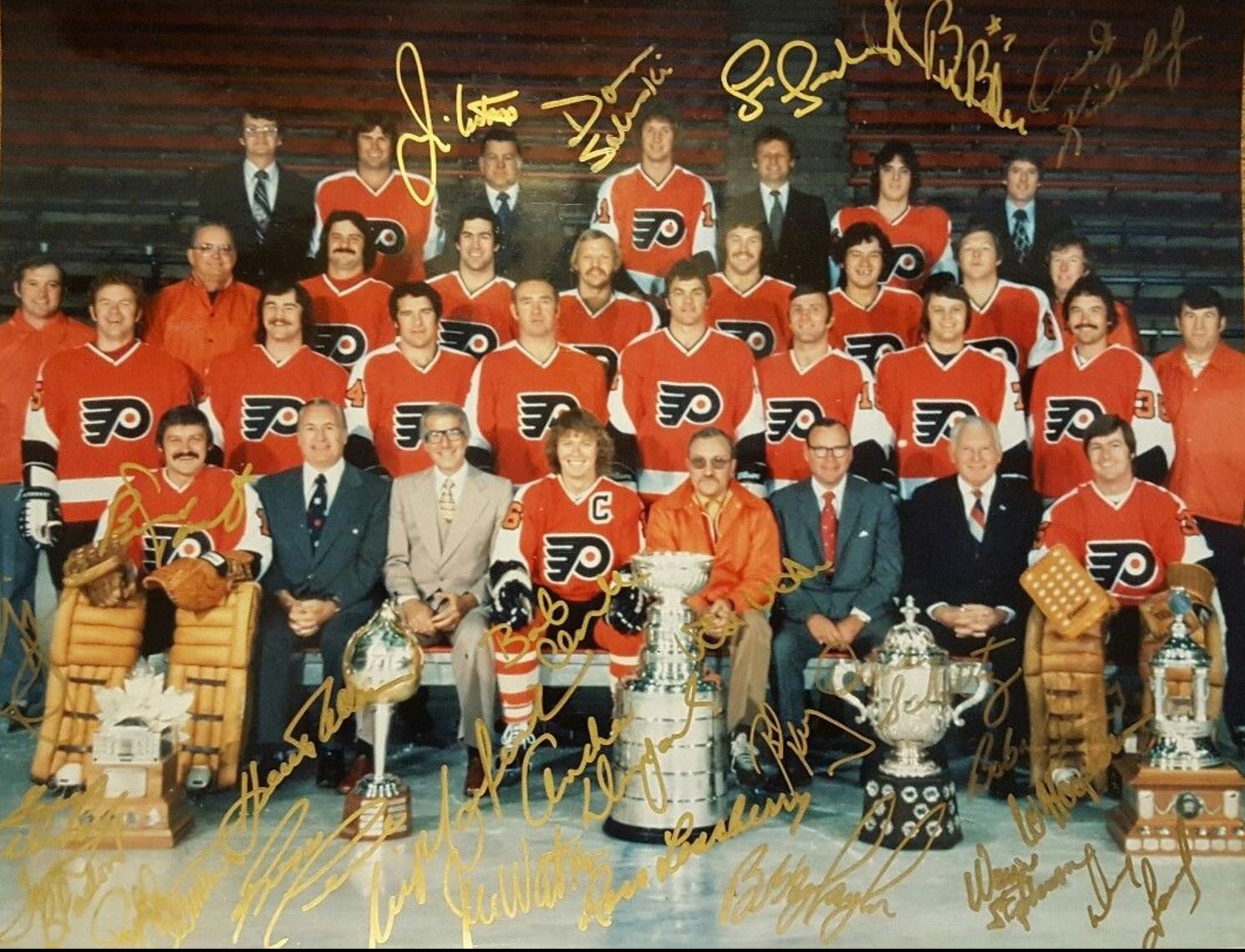Philadelphia Flyers 1975 Stanley Cup Champions Autographed