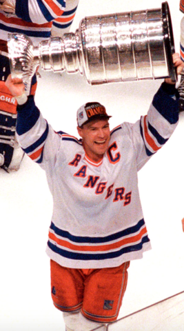 Mark Messier with The Stanley Cup 1994