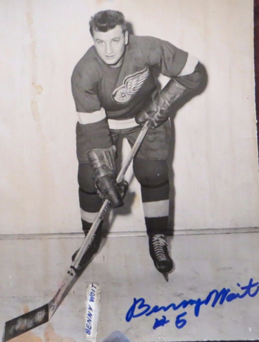 Benny Woit Detroit Red Wings 1952