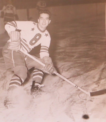 Ralph ''Bus'' Wycherley Cleveland Barons 1948 American Hockey League
