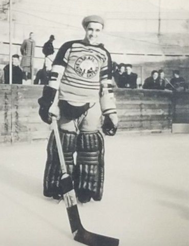 Buck Buchanan Trail Smoke Eaters Goalie 1939