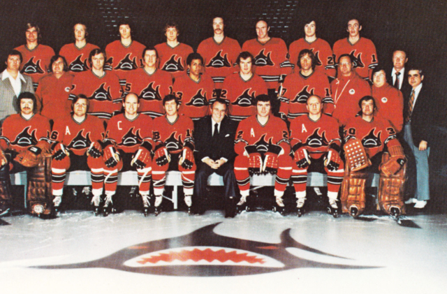 Los Angeles Sharks Team Photo 1972 World Hockey Association