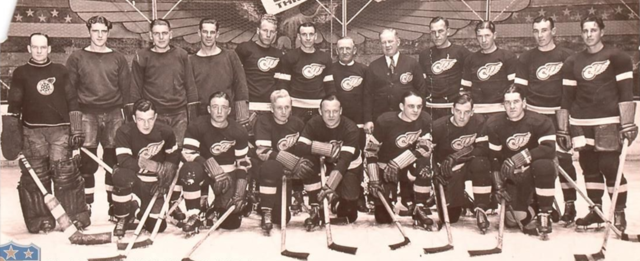 Detroit Red Wings Team Photo 1933