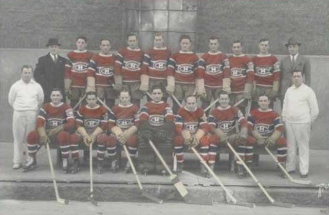 Montreal Canadiens Team Photo 1933