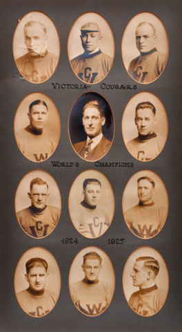 Victoria Cougars Team Photo 1925 Stanley Cup Champions