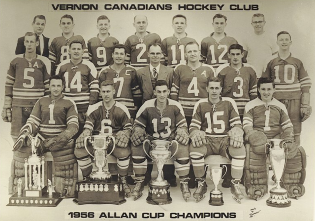 Vernon Canadians 1956 Allan Cup Champions - Patton Cup Champs, Savage Cup Champs