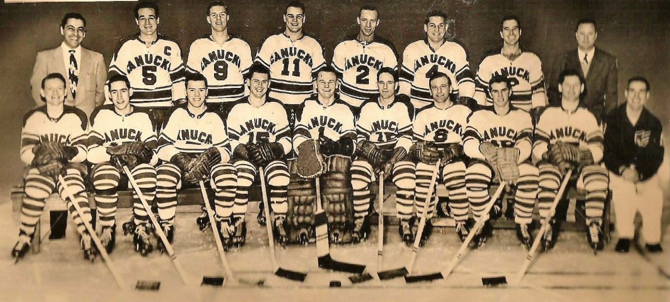 Vancouver Canucks Team Photo 1954 Western Hockey League Hockeygods