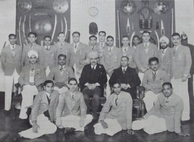 1936 India Olympic Hockey Team at the India House, Aldwych, London, England