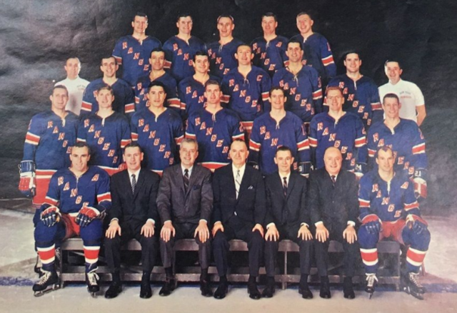 New York Rangers Team Photo 1966