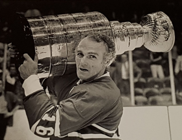 Henri Richard Holding The Stanley Cup 1966 Montreal Canadiens