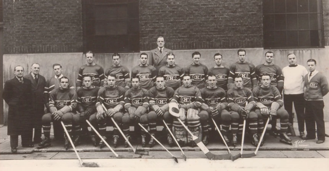 Montreal Canadiens Team Photo  1938-39 Season