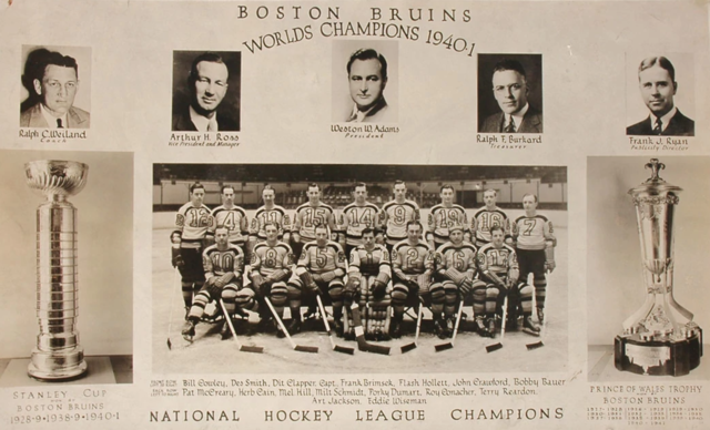 Boston Bruins 1941 Stanley Cup Champions