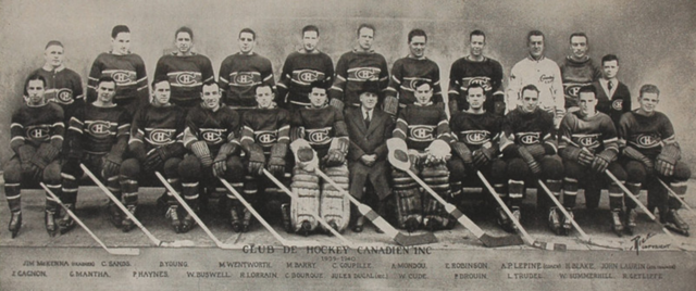Montreal Canadiens Team Photo 1939-40