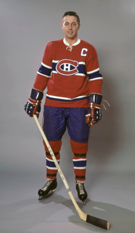 Jean Beliveau Montreal Canadiens Captain 1967