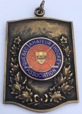 Quebec Amateur Hockey Association Award Medal 1945 Quebec Hockey Association