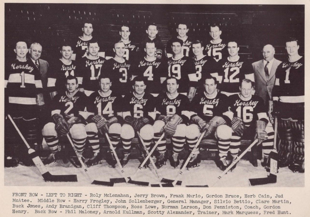 Hershey Bears Team Photo 1948 American Hockey League