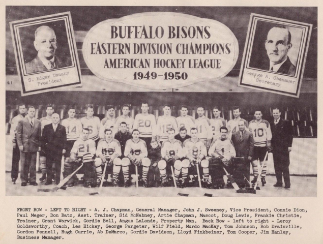 Buffalo Bisons Team Photo 1950 American Hockey League Eastern Division Champions